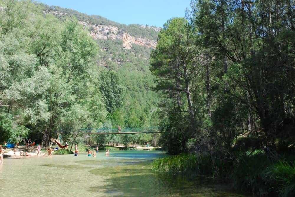 Área recreativa del puente colgante: un lugar ideal donde bañarse en Guadalajara