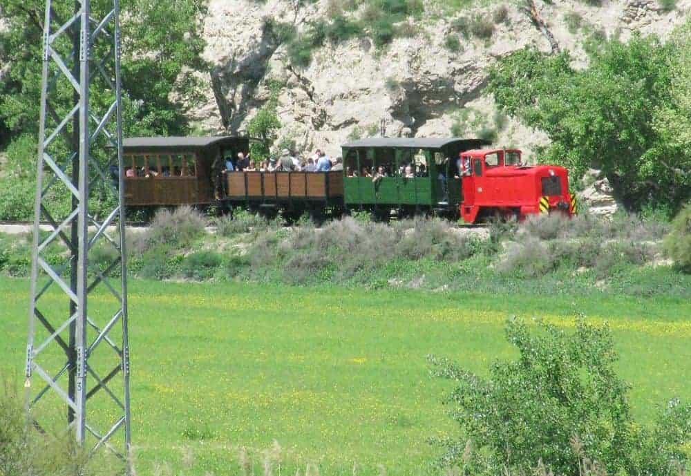 Tren Turístico de Arganda circulando