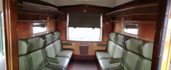 Interior del Tren Turístico de Felipe II