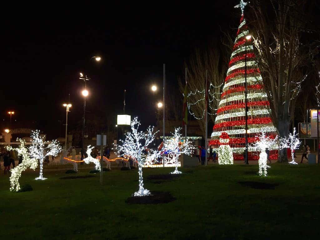 Parque de atracciones de Madrid en Navidad