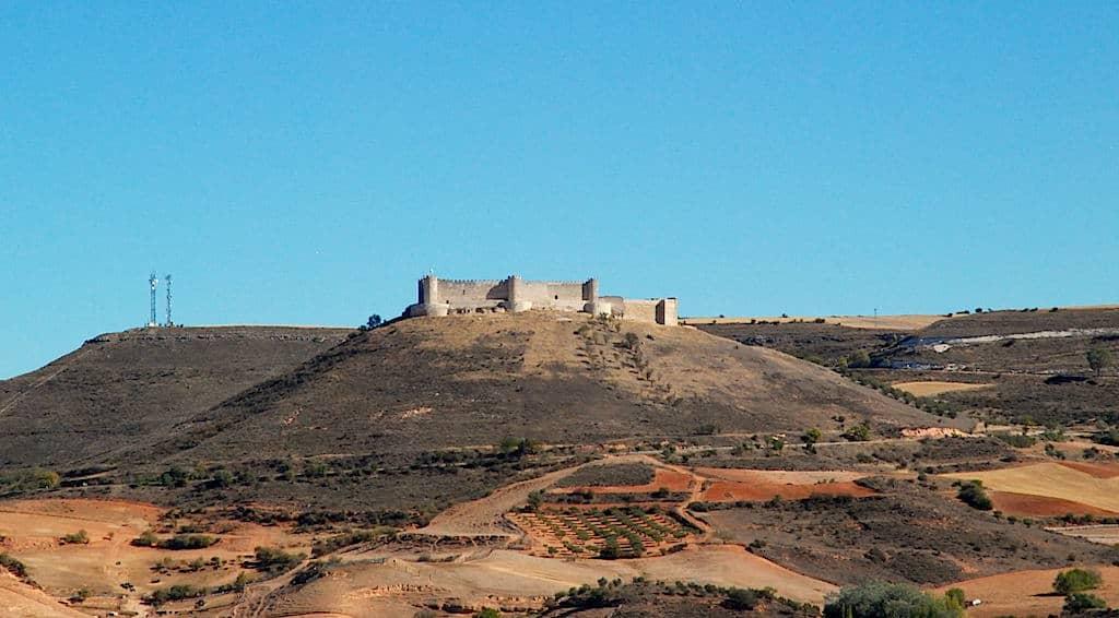 Vista en lo alto de la montaña del Castillo del Cid, Jadraque, Guadalajara