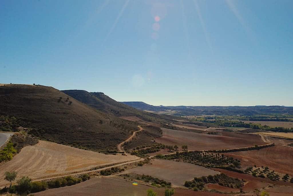 Tierras de Castilla. Vistas desde el Castillo del Cid, Jadraque, Guadalajara