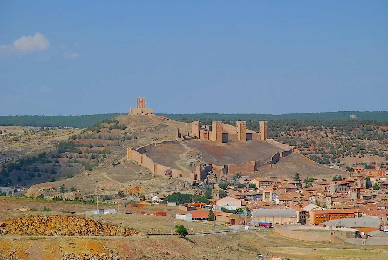 Vista panorámica del castillo de Molina de Aragón