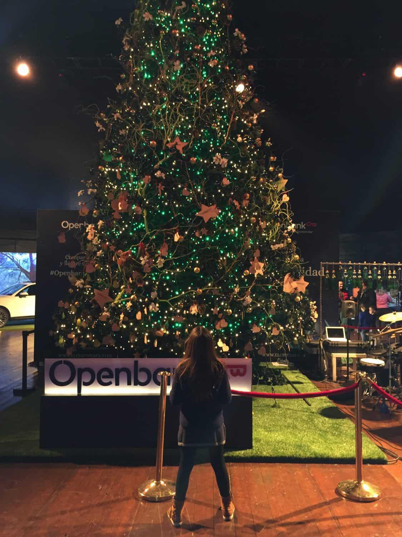 Árbol de Navidad de Openbank en El circo de hielo