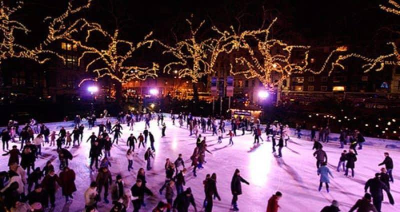Pista de patinaje sobre hielo en Madrid Río, Navidad Madrid 2019