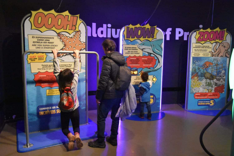Sea Life Porto es uno de los lugares que ver en Oporto con niños por su gran componente lúdico educativo